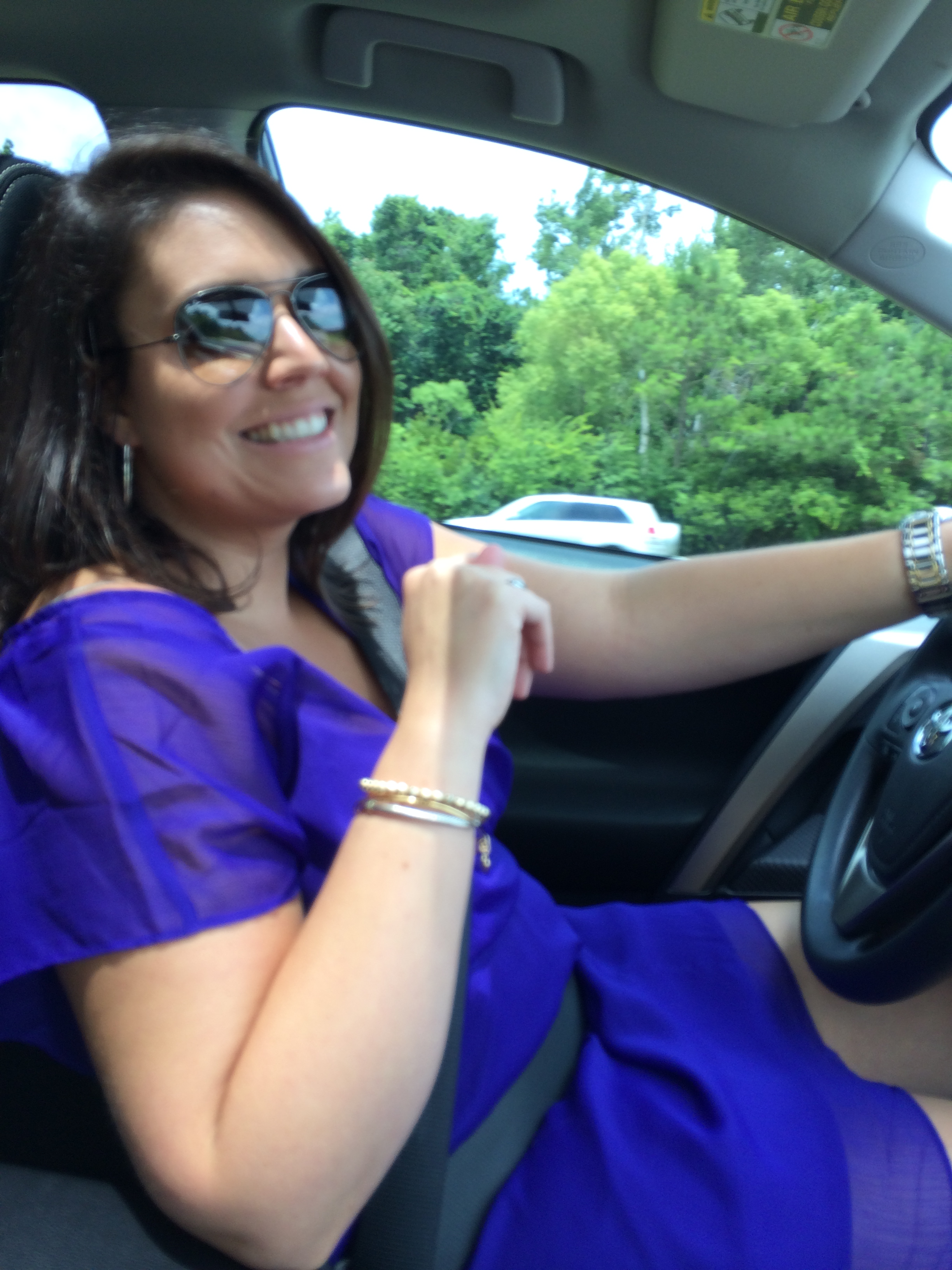 Sidney was nice enough to drive to Wilmington. We traveled high class in her brand new 2014 Toyota RAV4 XLE.