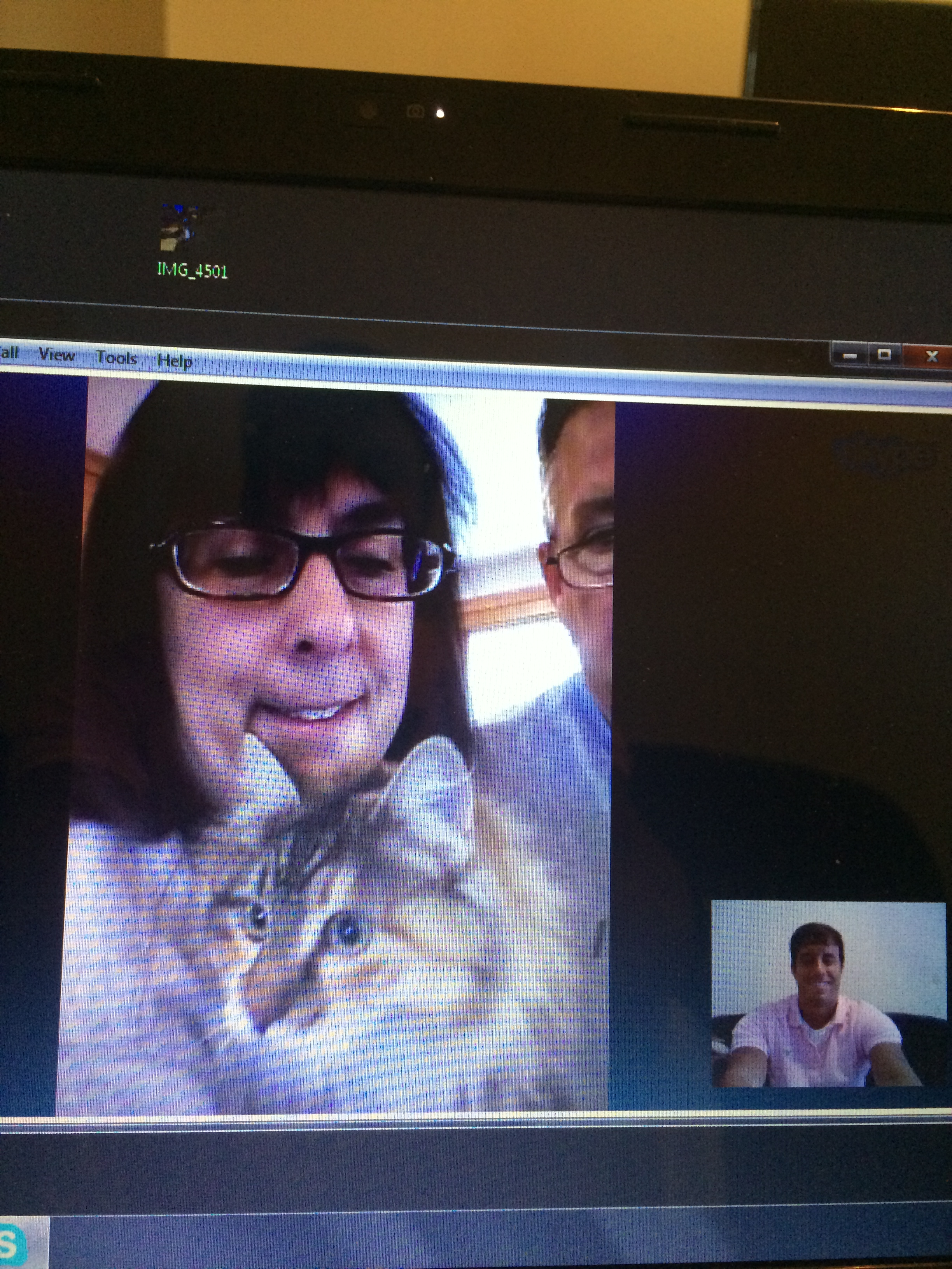 Last week my sister's cat made an appearance in our Skype session.