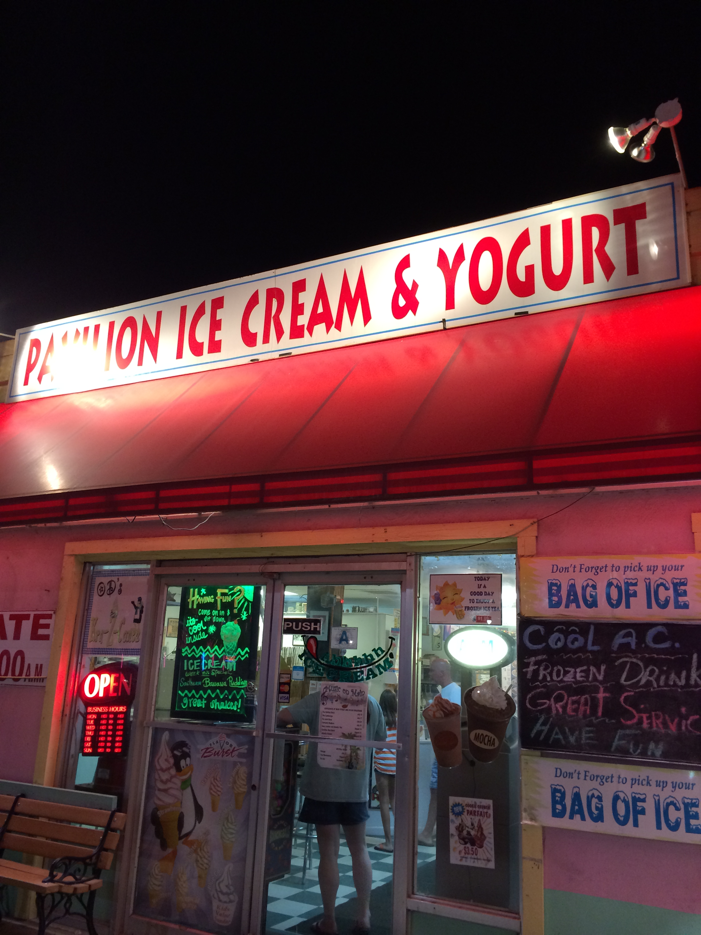 This is O.D. Pavilion Ice Cream in North Myrtle Beach.