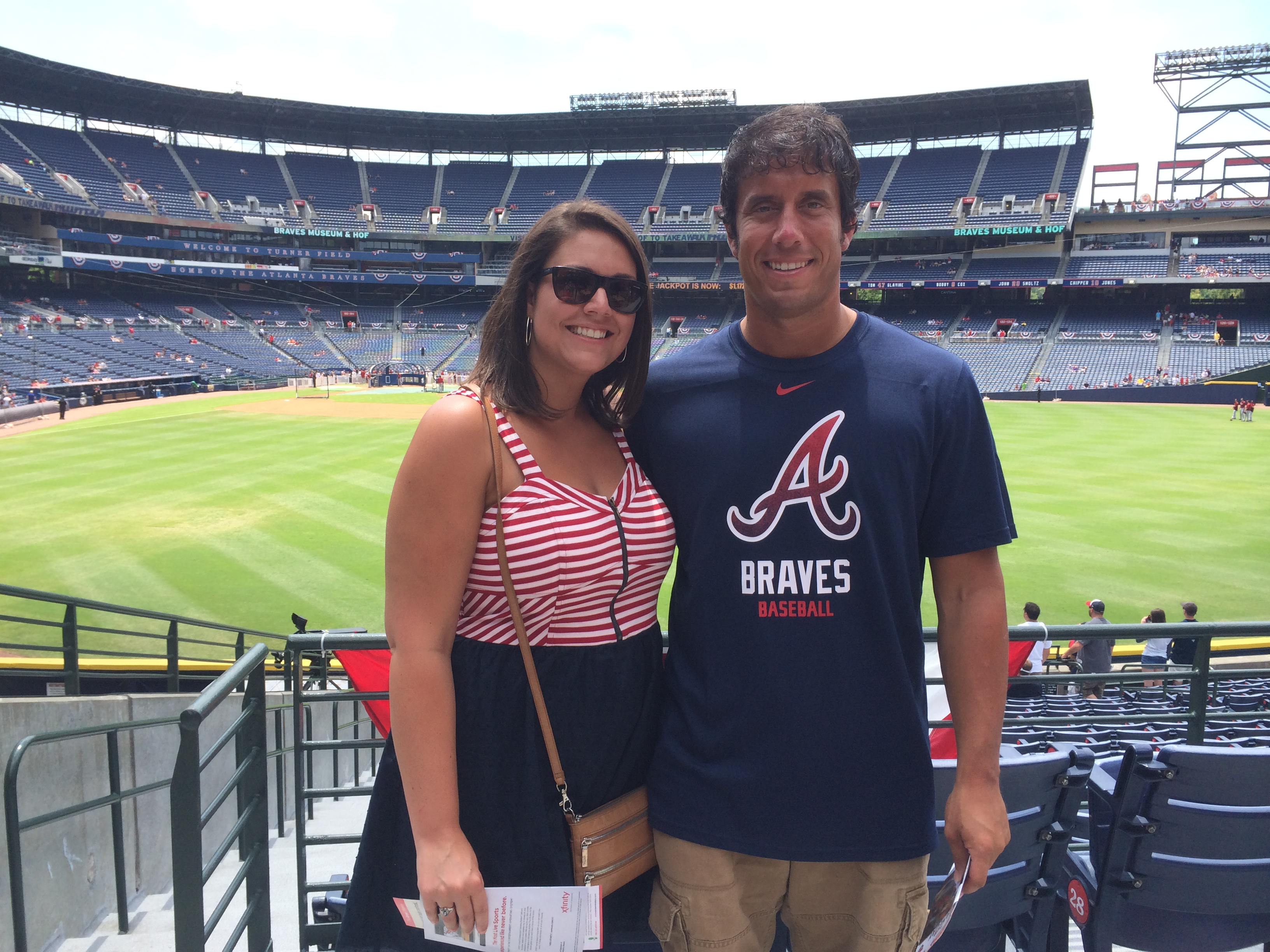 Sidney and I at Turner Field in Atlanta last year.