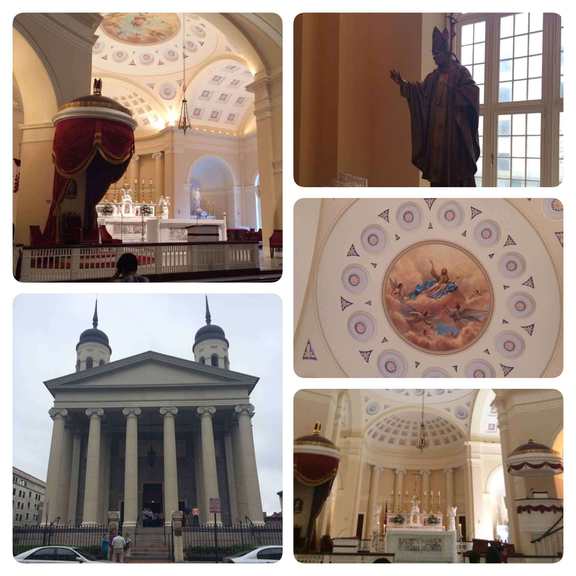The Baltimore Basilica is a beautiful church.
