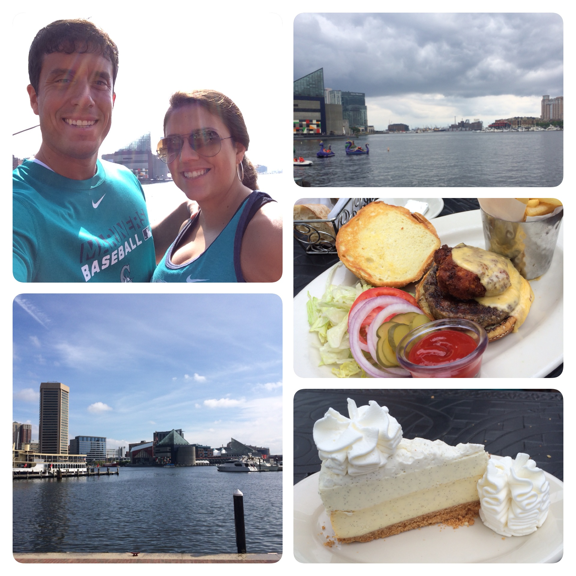 Here is a look at our view of Baltimore and our Cheesecake Factory lunch.