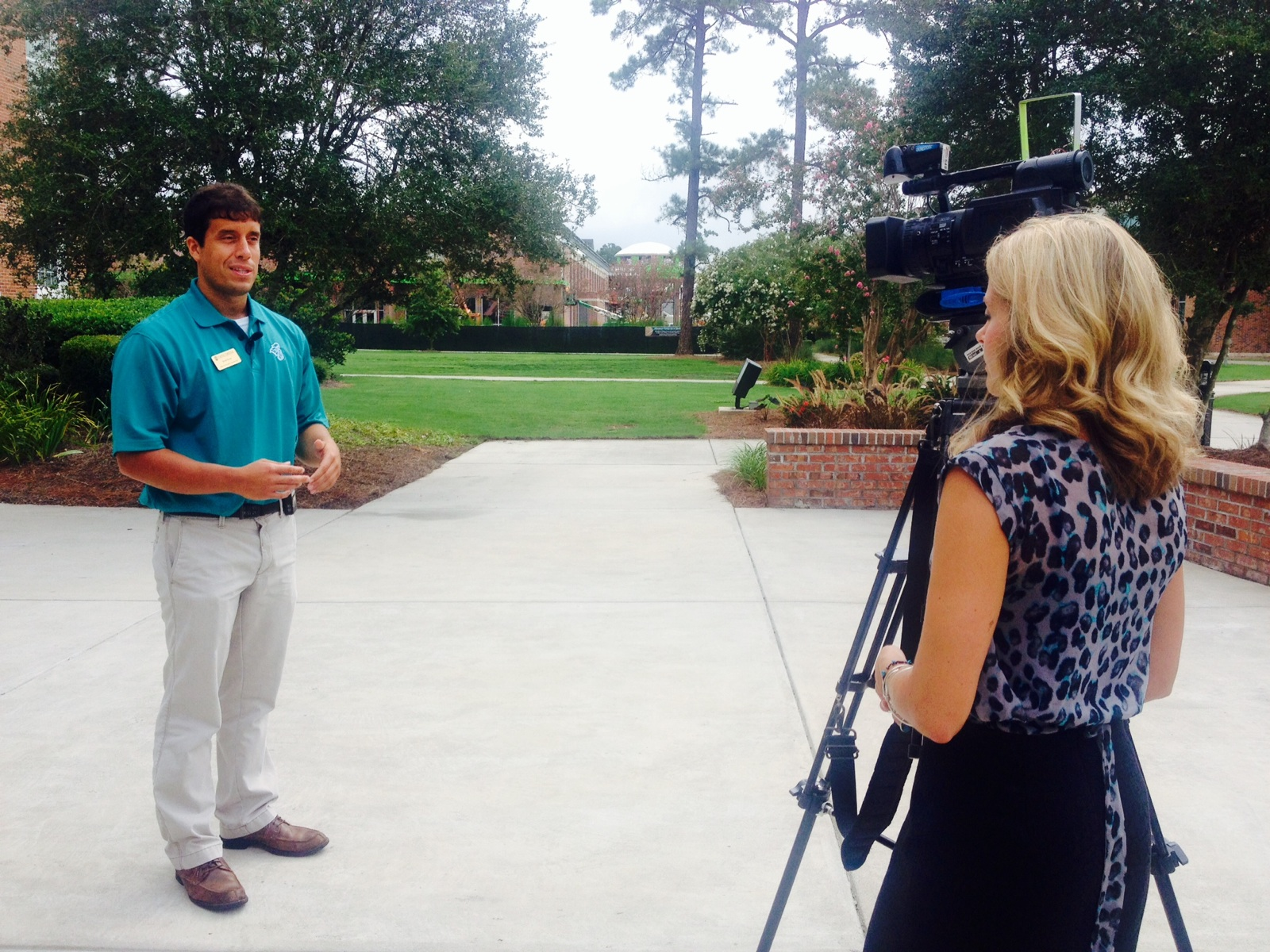 Mandy Noell from WMBF interviews me about CCU Social Media.