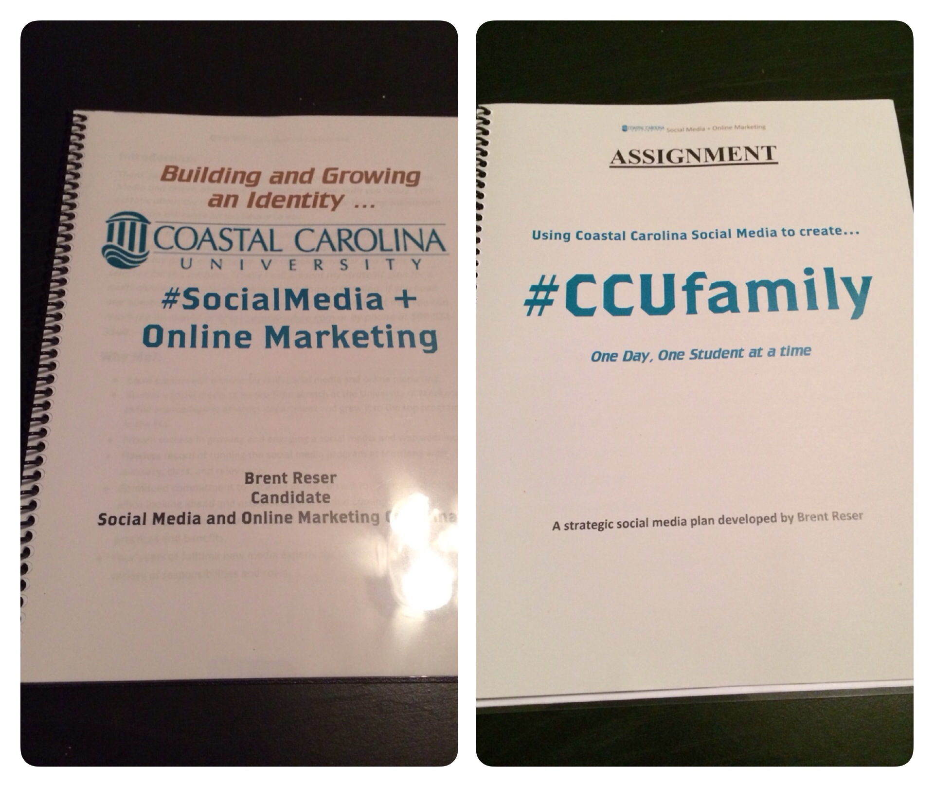 Inside my vision for #CCUSocialMedia was a section devoted to #CCUfamily.