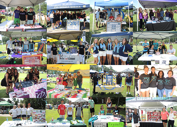 A few of the many student group photos I took on Wednesday for Coastal's Club Recruitment Day.