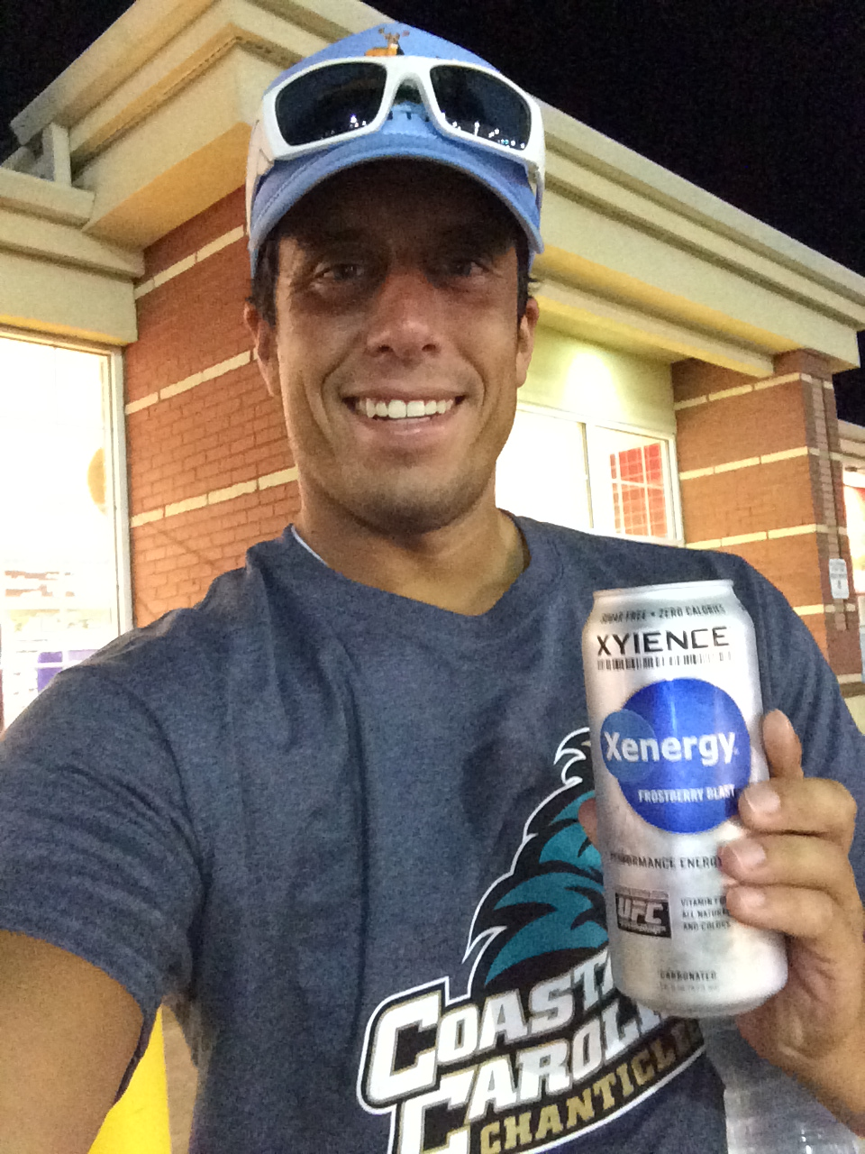 I was so excited when I found Xyience that I had to take a selfie with it outside of the gas station.