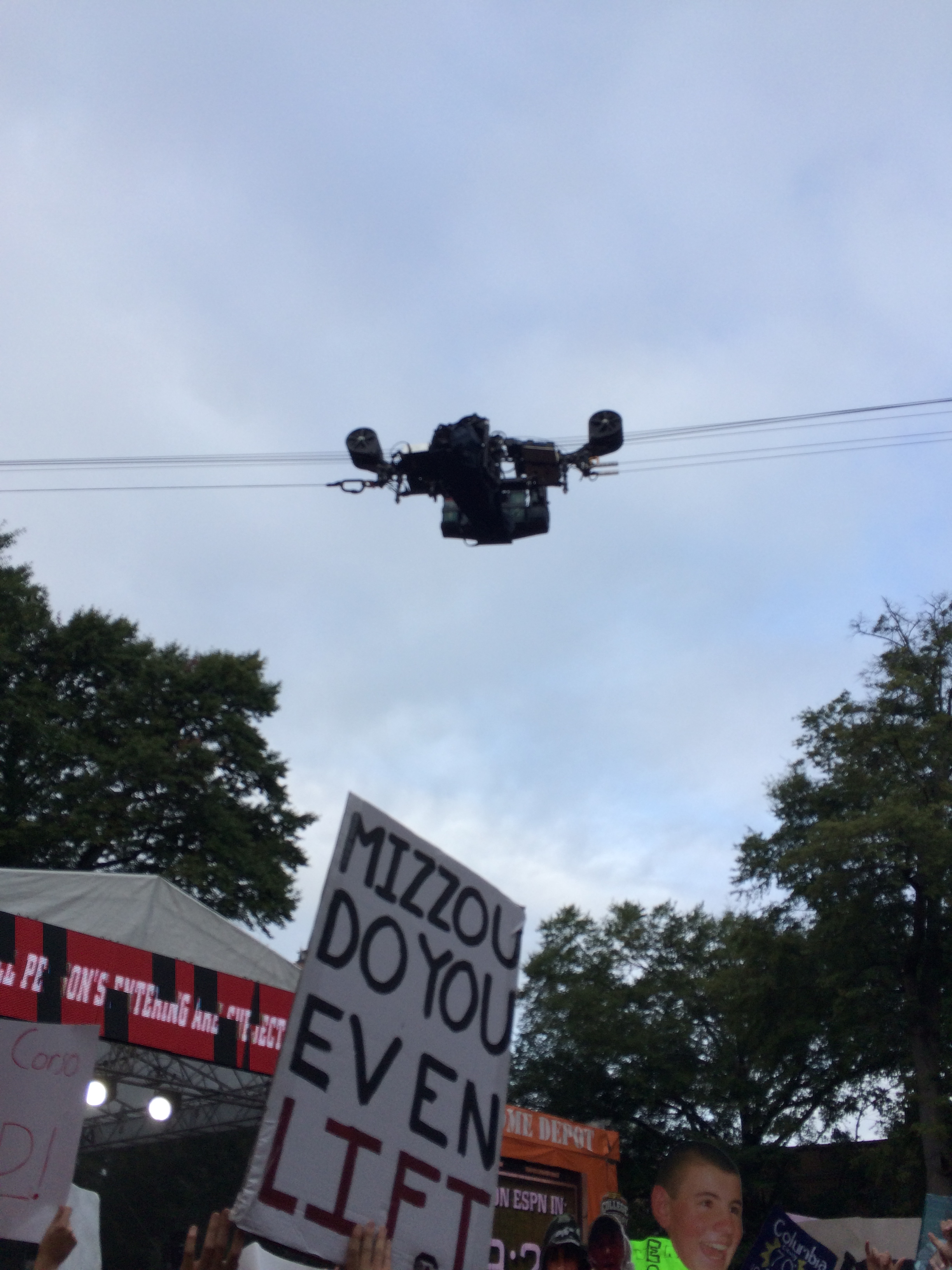 A look at one of the cameras that would fly by.