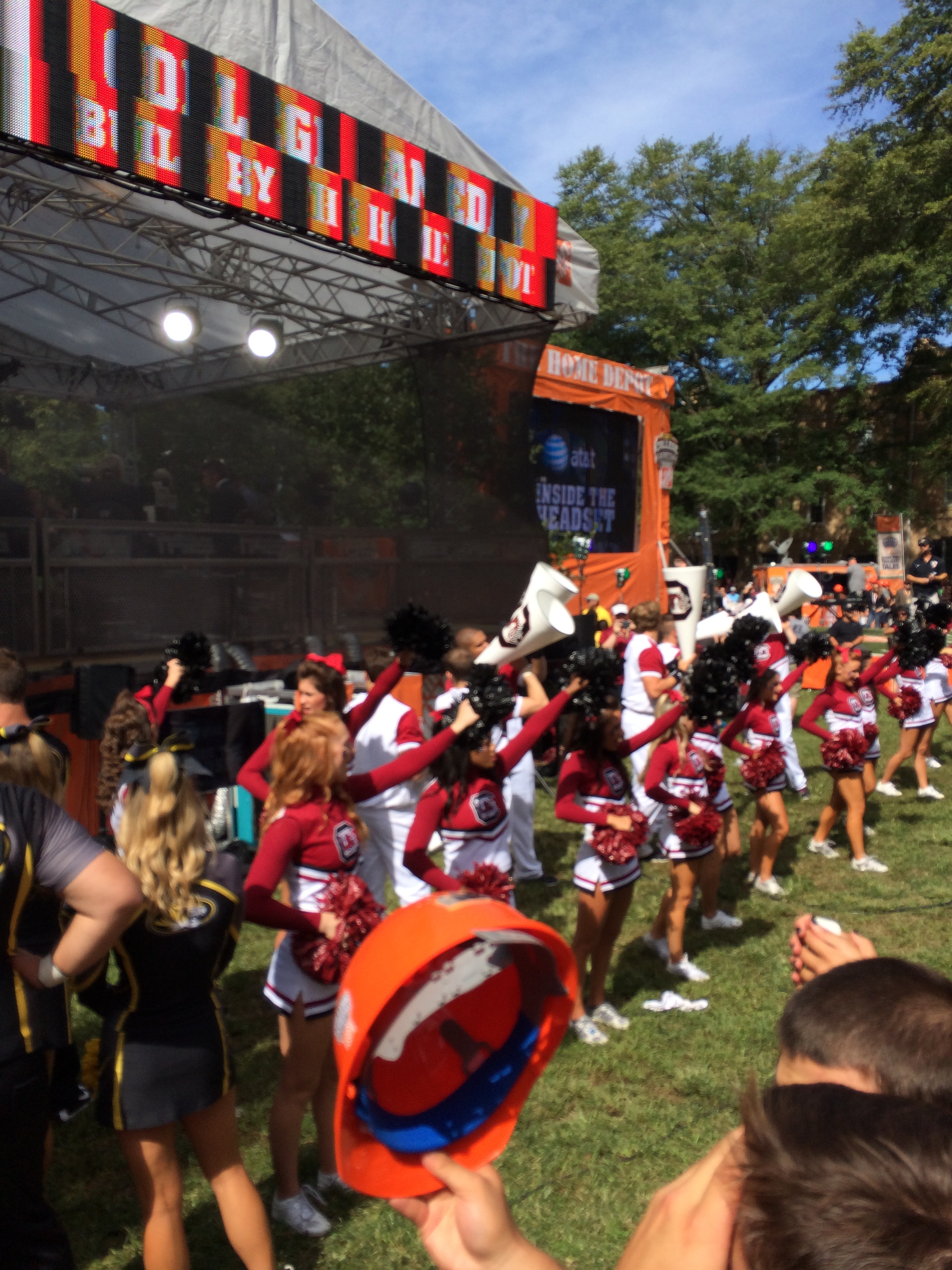 Front row at College Gameday.
