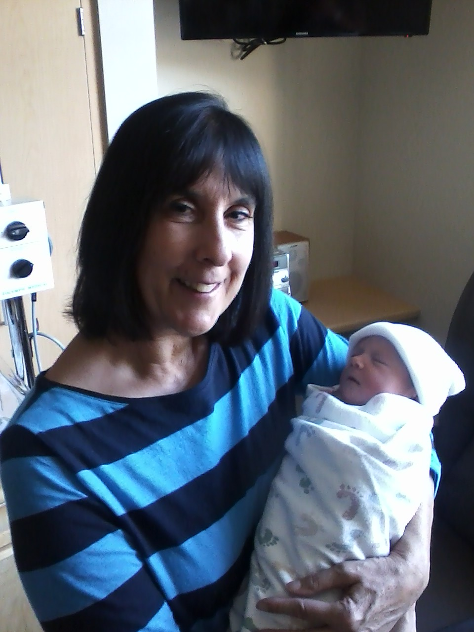 My mom (Grandma) with Mikayla.