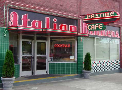 The Pastime Café, the restaurant I grew up in.