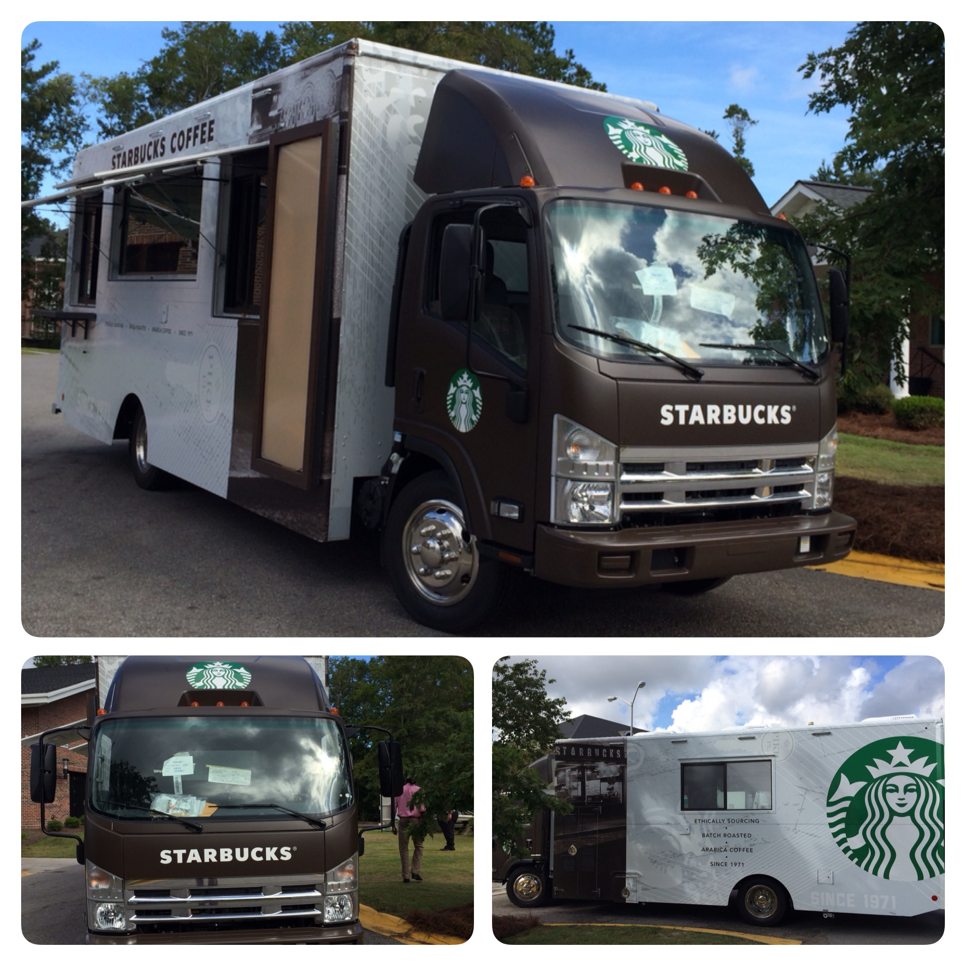 Here are some of the photos I snapped today of the new Mobile Starbucks Truck.