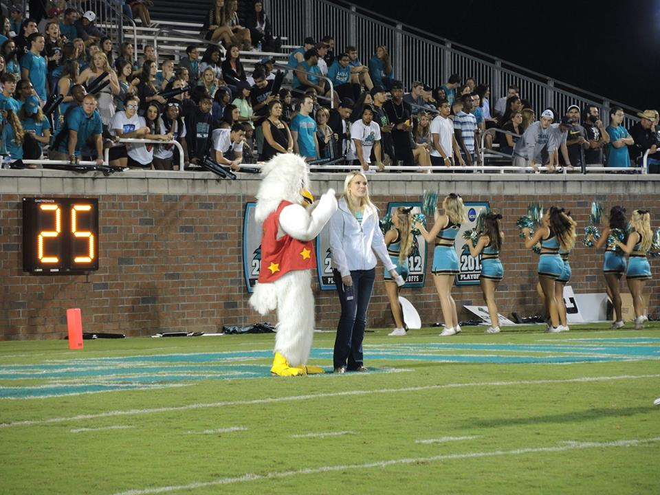At the Chant football game on September 27, the Bojangles promotion had its debut. This is the winner of the $100 gift card.