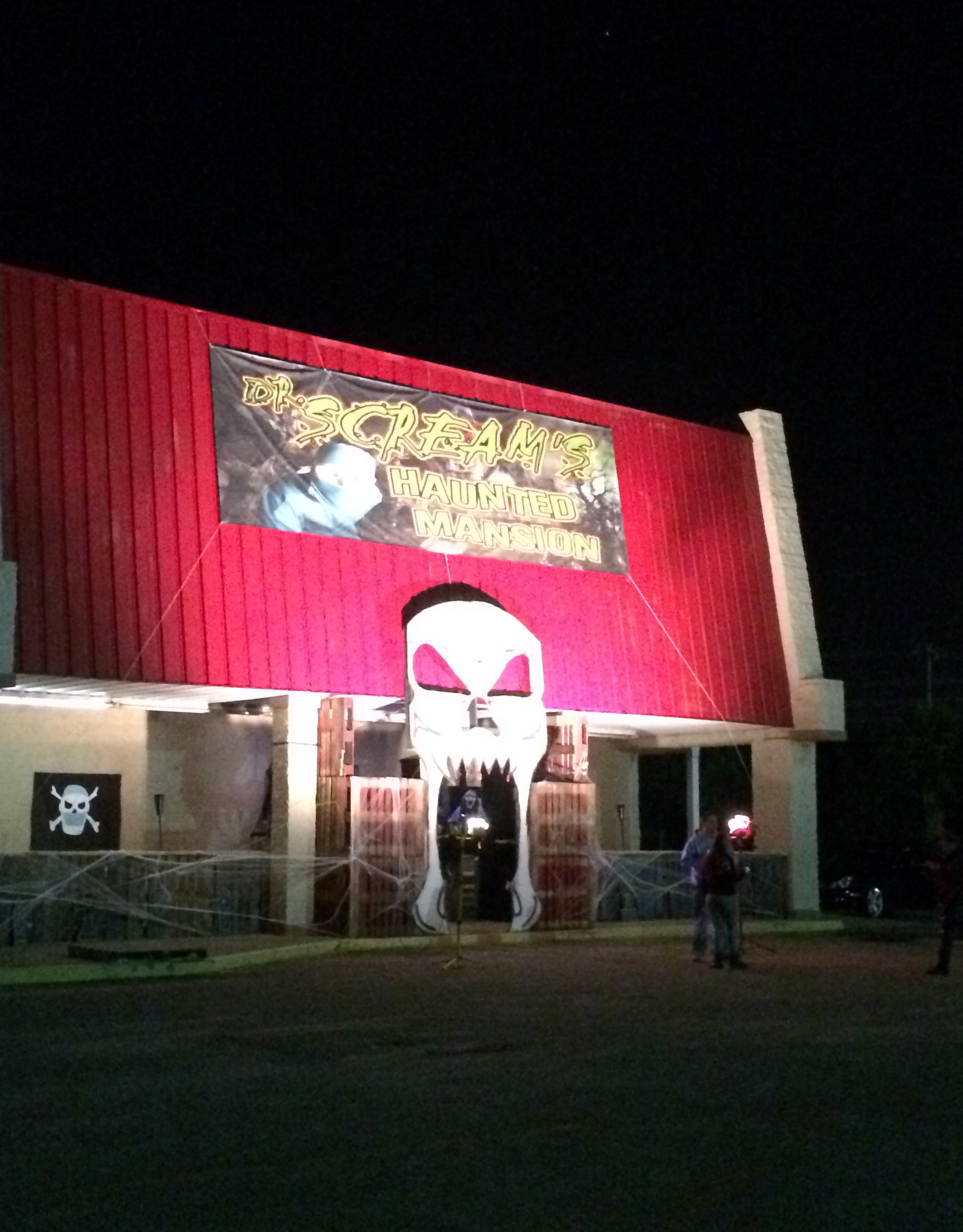 The front portion of Dr. Screams Haunted House in Myrtle Beach.