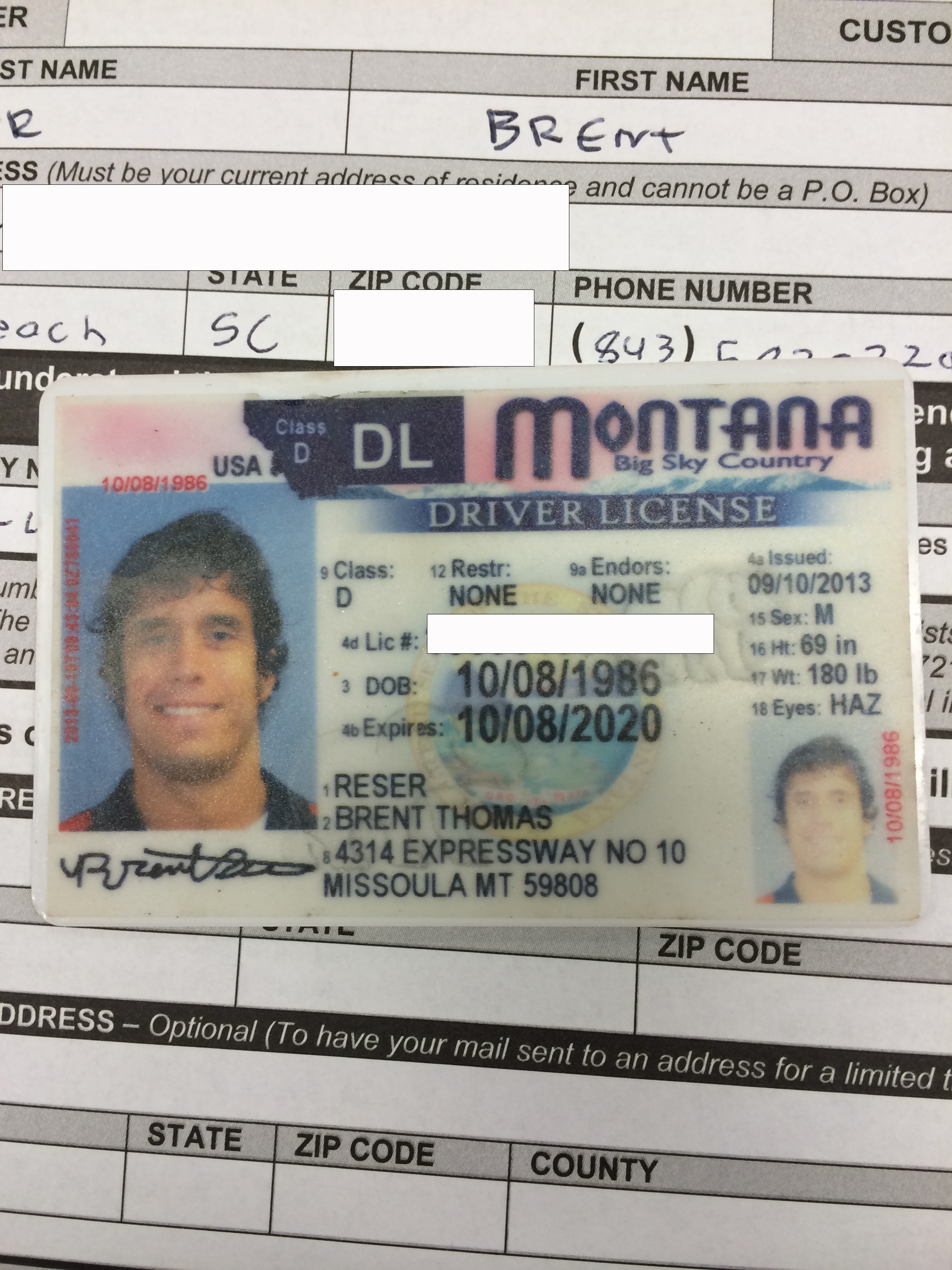 I will never see this license again.