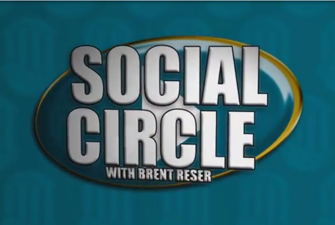 I was given my own segment. Let me introduce to you the Social Circle with Brent Reser.
