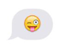 This is a great emoticon for when you are in a silly mood.