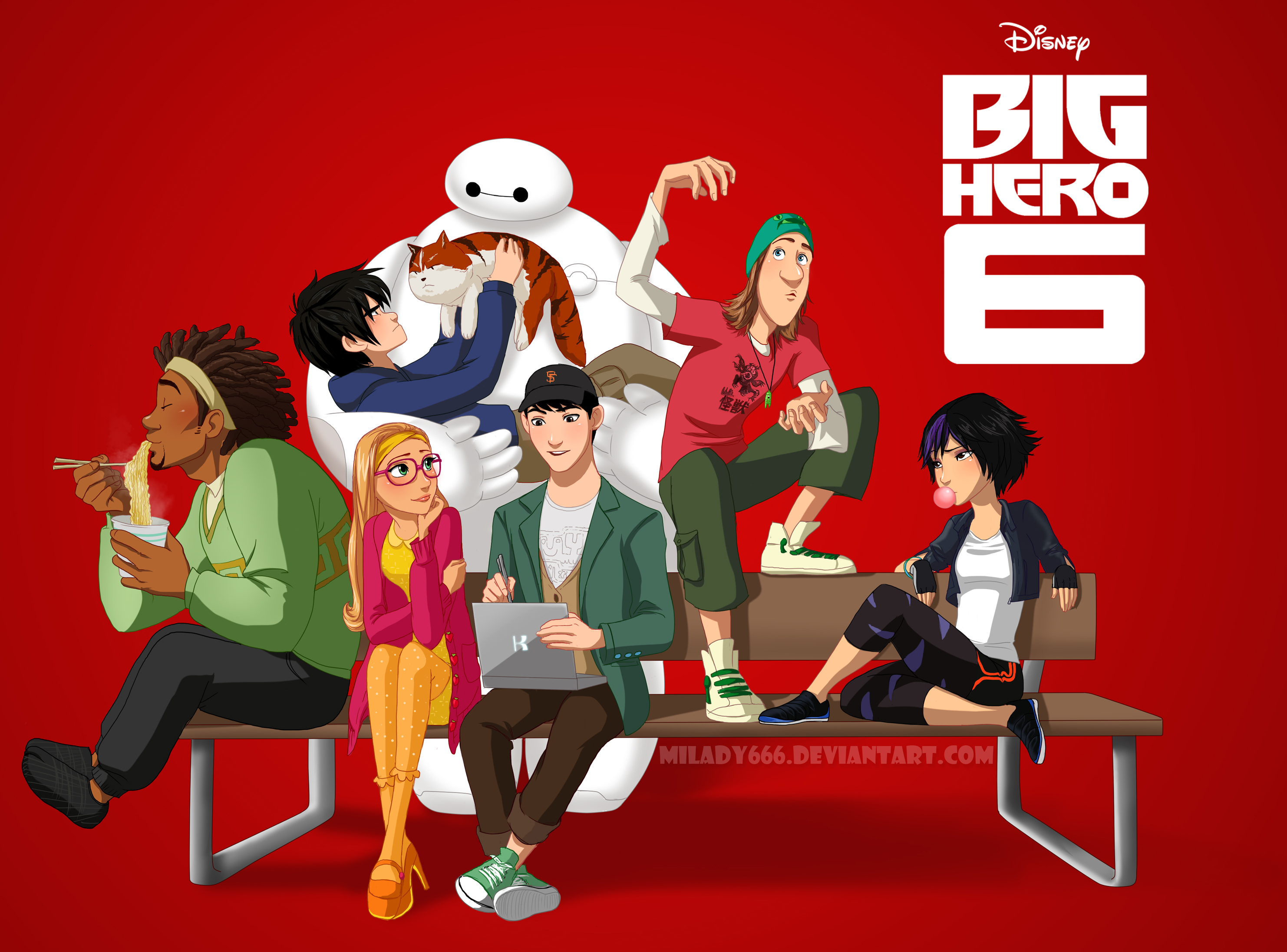 "The gang from ""Big Hero 6""."