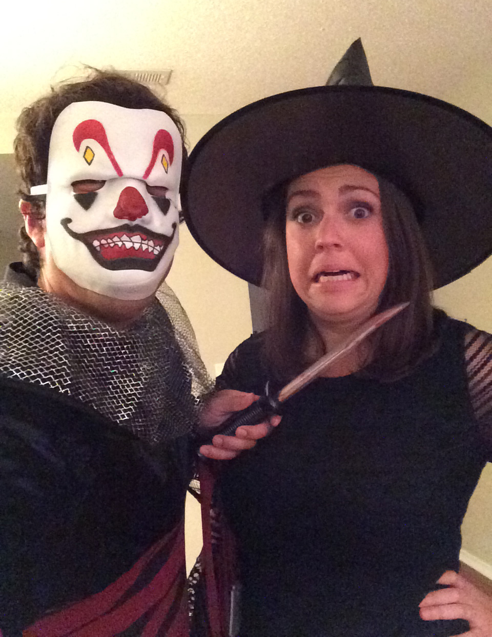 Sid and I dressed up for Halloween 2014...I am the one with the mask on :)