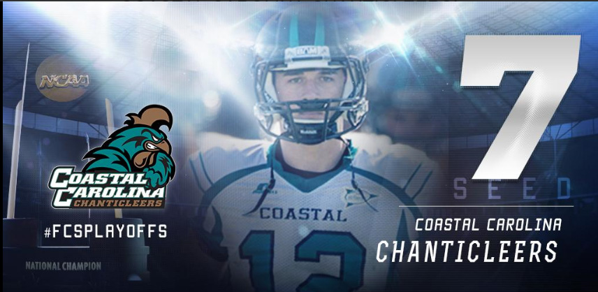 Coastal Carolina received a #7 seed and first round bye.
