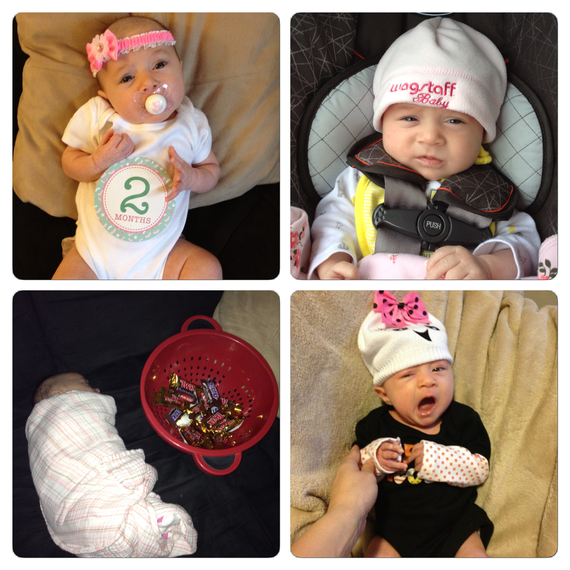 Here are some recent photos of Mikayla at two months.