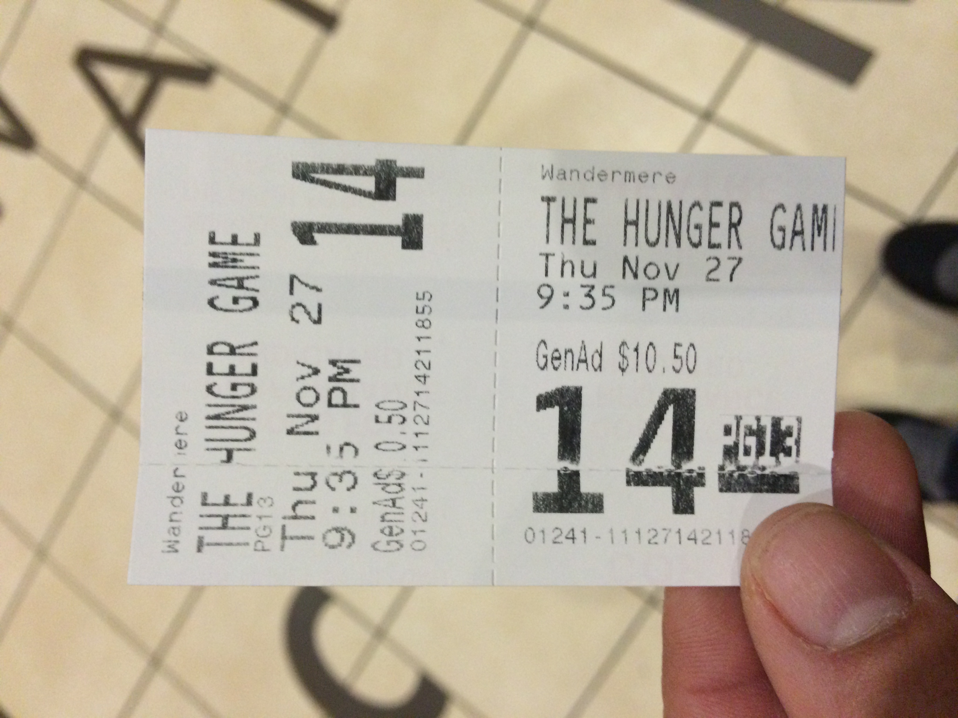 """Hunger Games 3"" was a great movie."