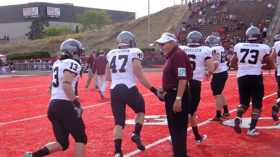 The 2012 season was a tough one. I took this photo at Eastern Washington, a game the Griz would lose in the fourth quarter.