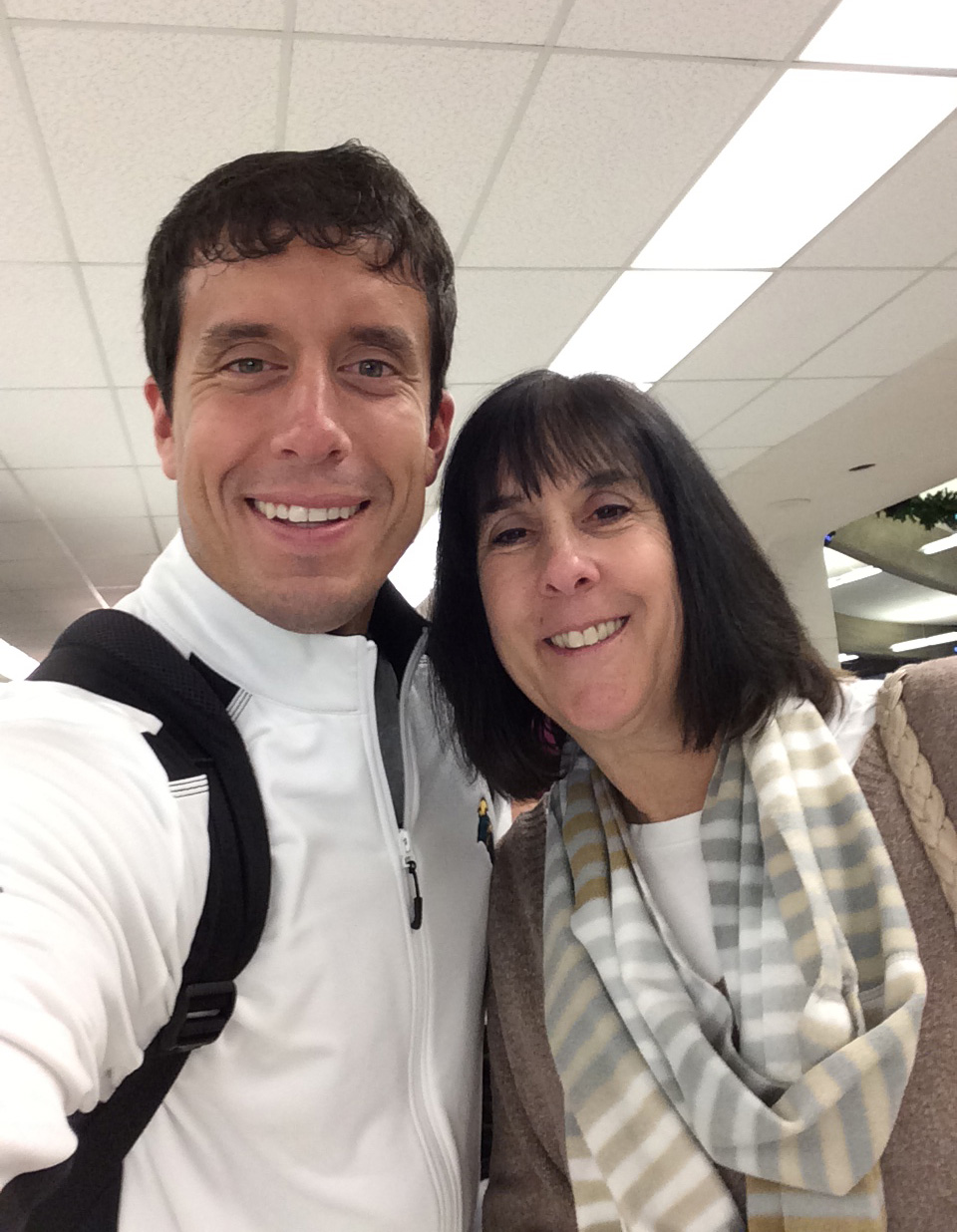 My mom and I reunited in the airport.