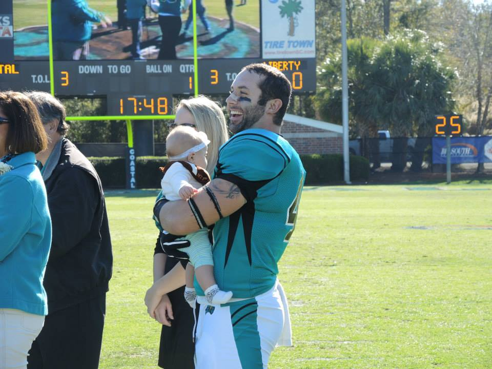 It was Senior Day yesterday at the Coastal game.