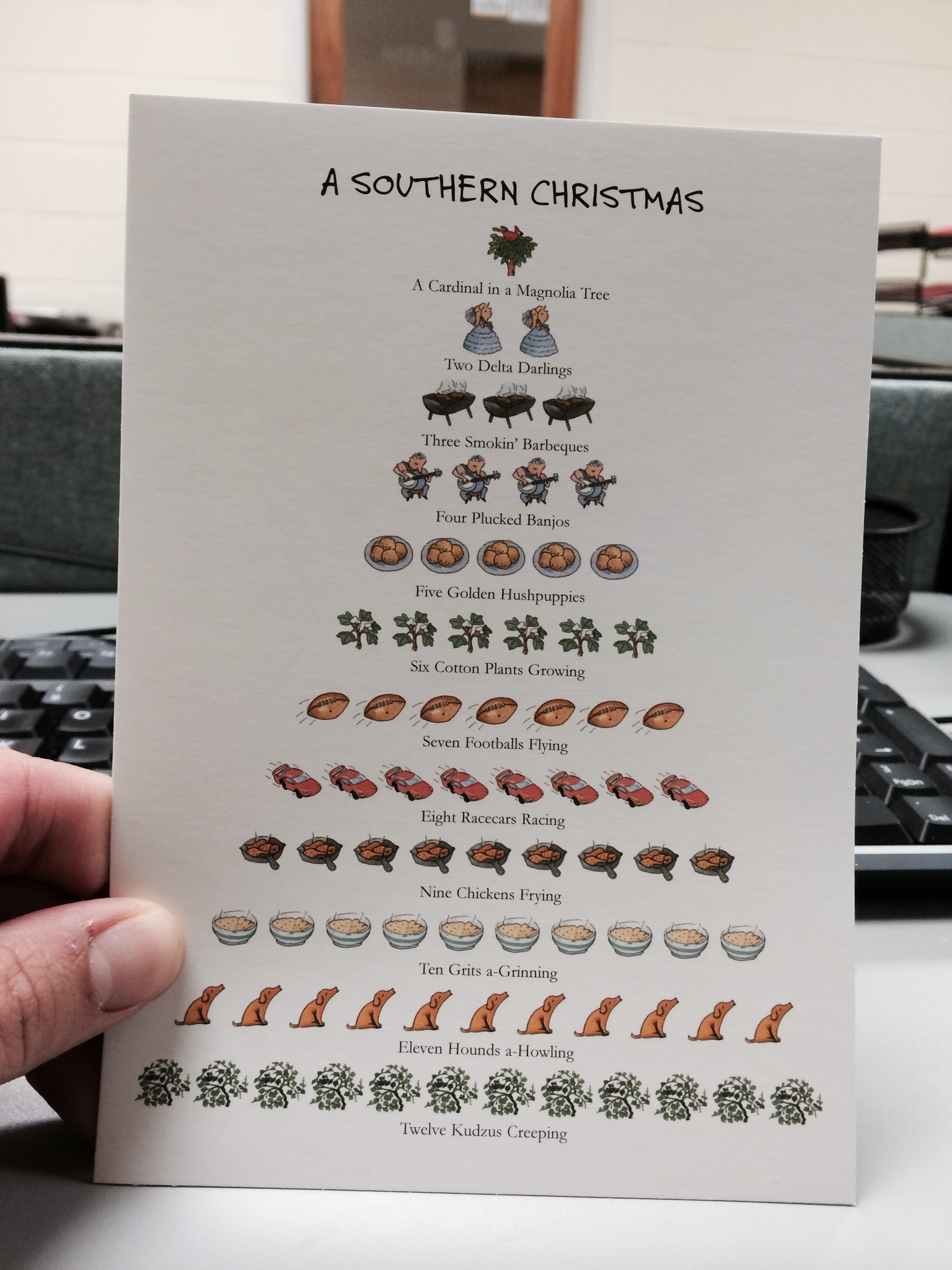 The cool Christmas card I received today.