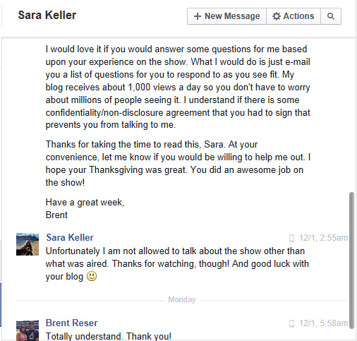 "Sara Keller from ""Bar Rescue"" shut me down for an interview."