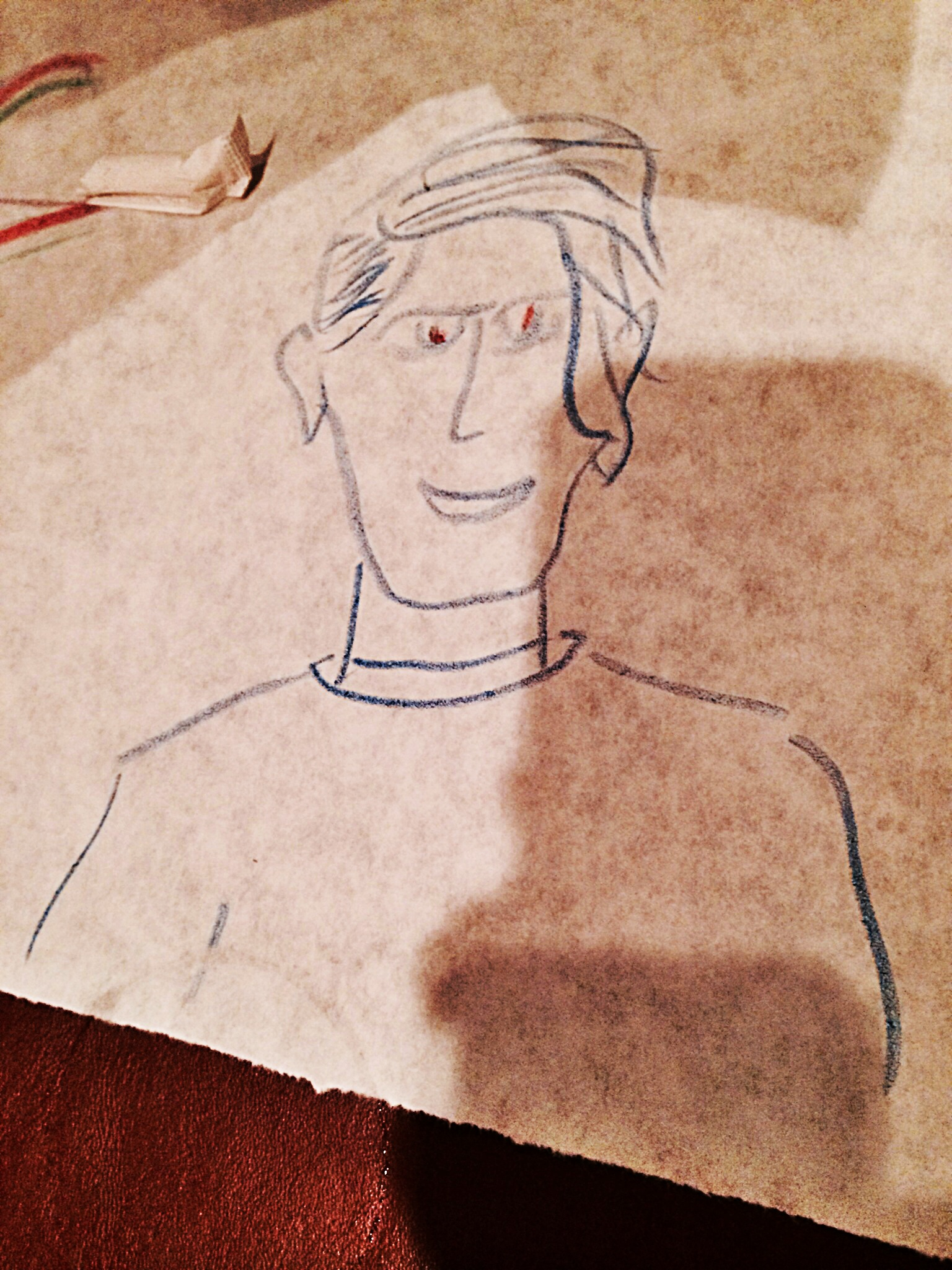 This was the drawing my dad of me at Tomato Street this past Saturday night.