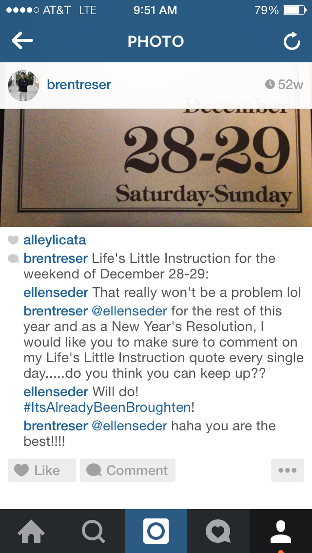 This was the challenge I made to Ellen on December 28, 2013. She accepted: