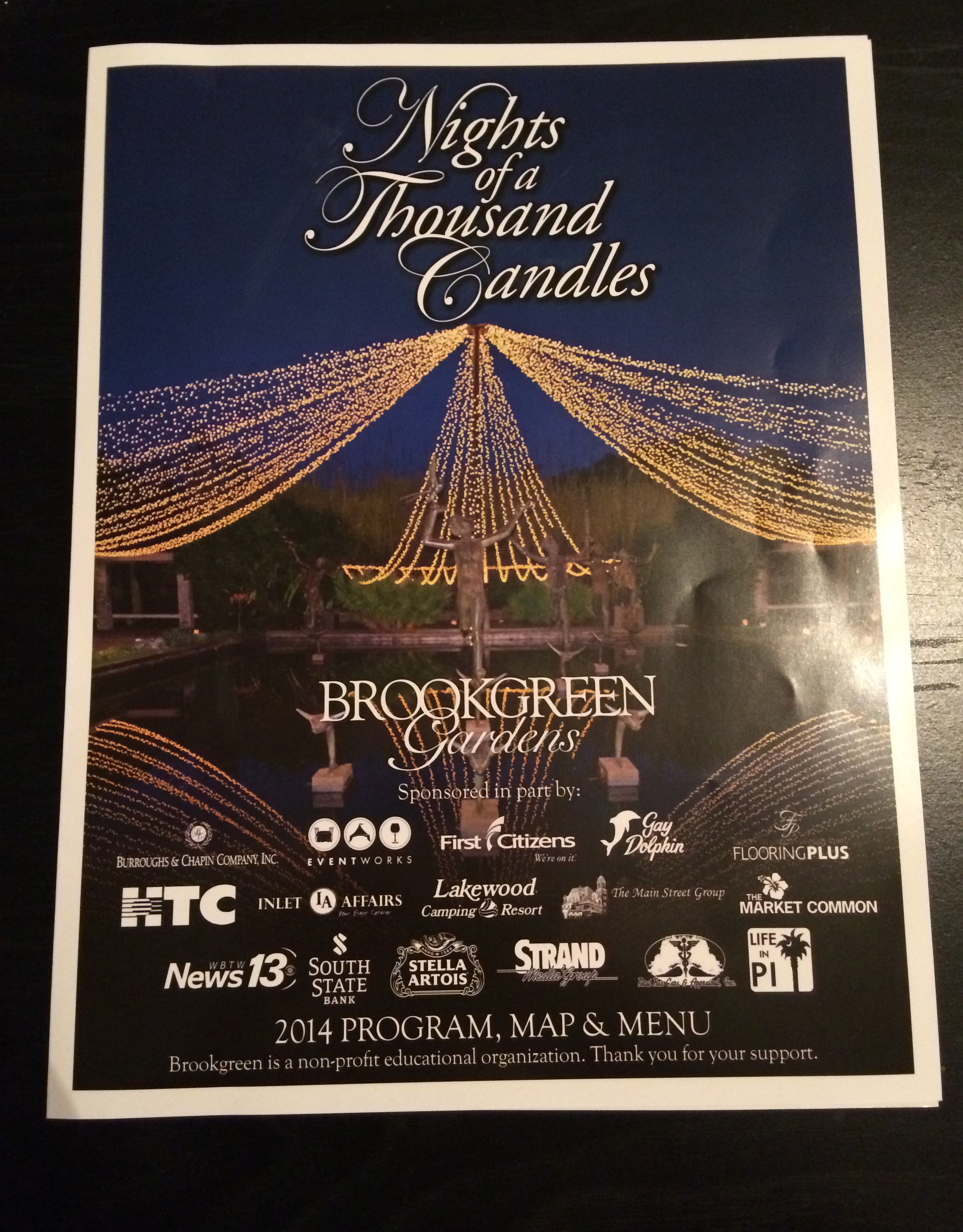 This is the program for Night of a Thousand Candles.