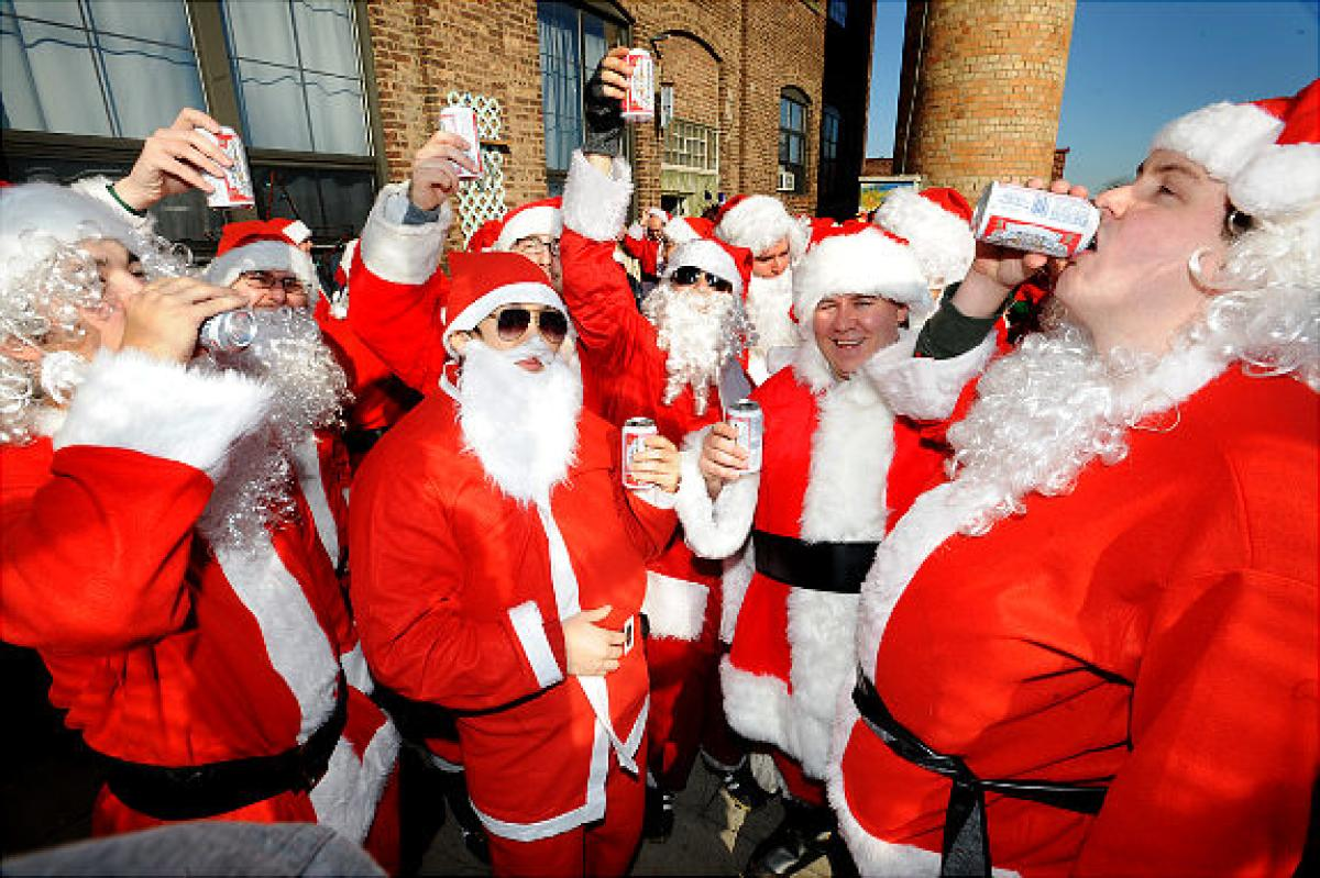 "A look at some of the 'Santas"" that SantaCon attracts."