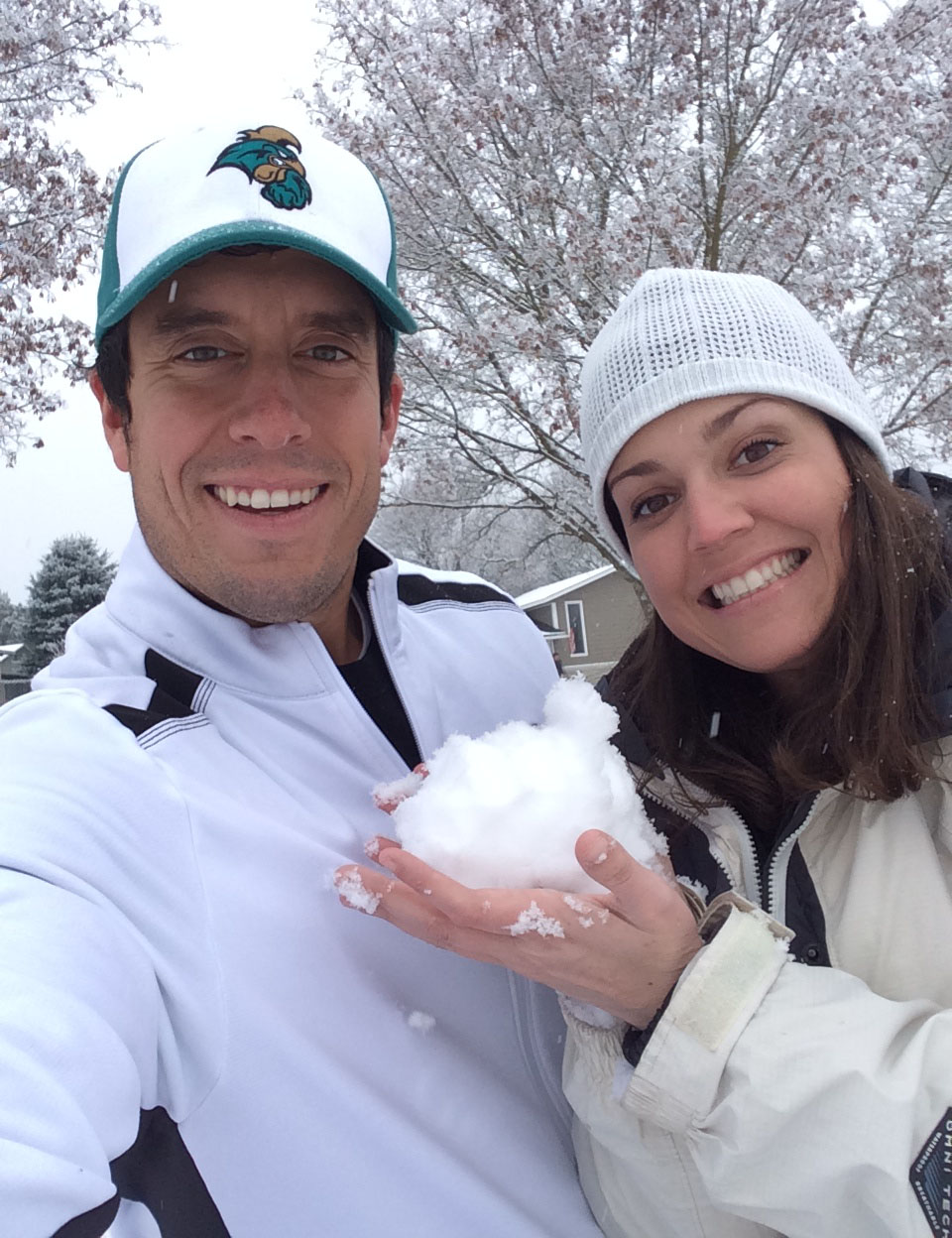 Sidney and I enjoying the snow together.