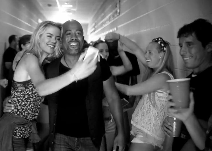 "I made the cut in Darius Rucker's ""Homegrown Honey"" video."