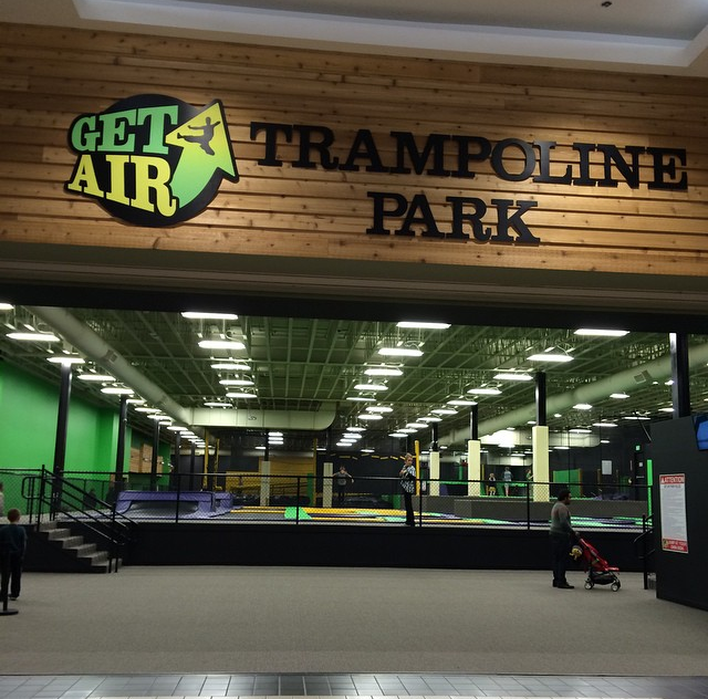 This is the entrance to the Get Air trampoline park in Northtown Mall in Spokane.