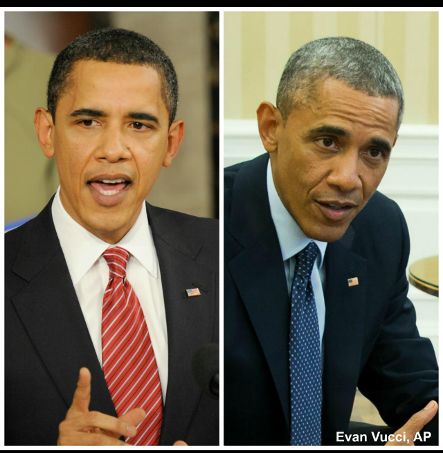 President Obama has aged dramatically while in office.
