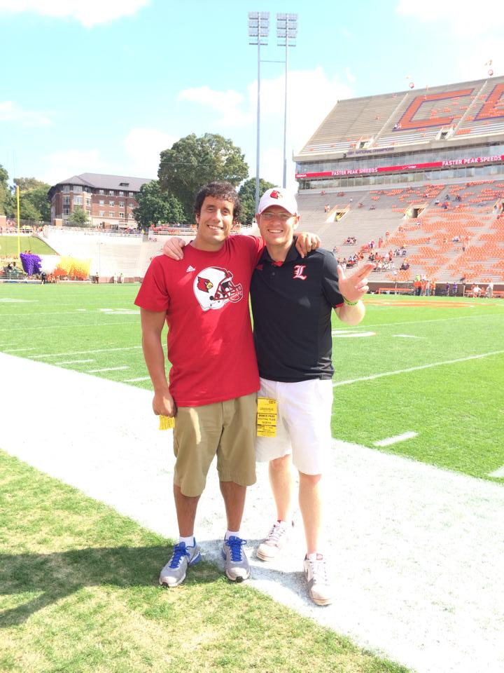 Kenny and I on the sidelines in Clemson's Memorial Stadium in October of 2014.