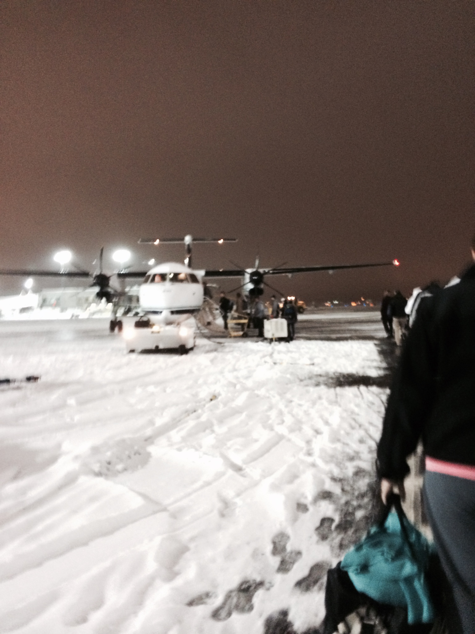 I snapped this photo as I boarded my plane in Spokane. I am still surprised we flew out on only a 30 minute delay.