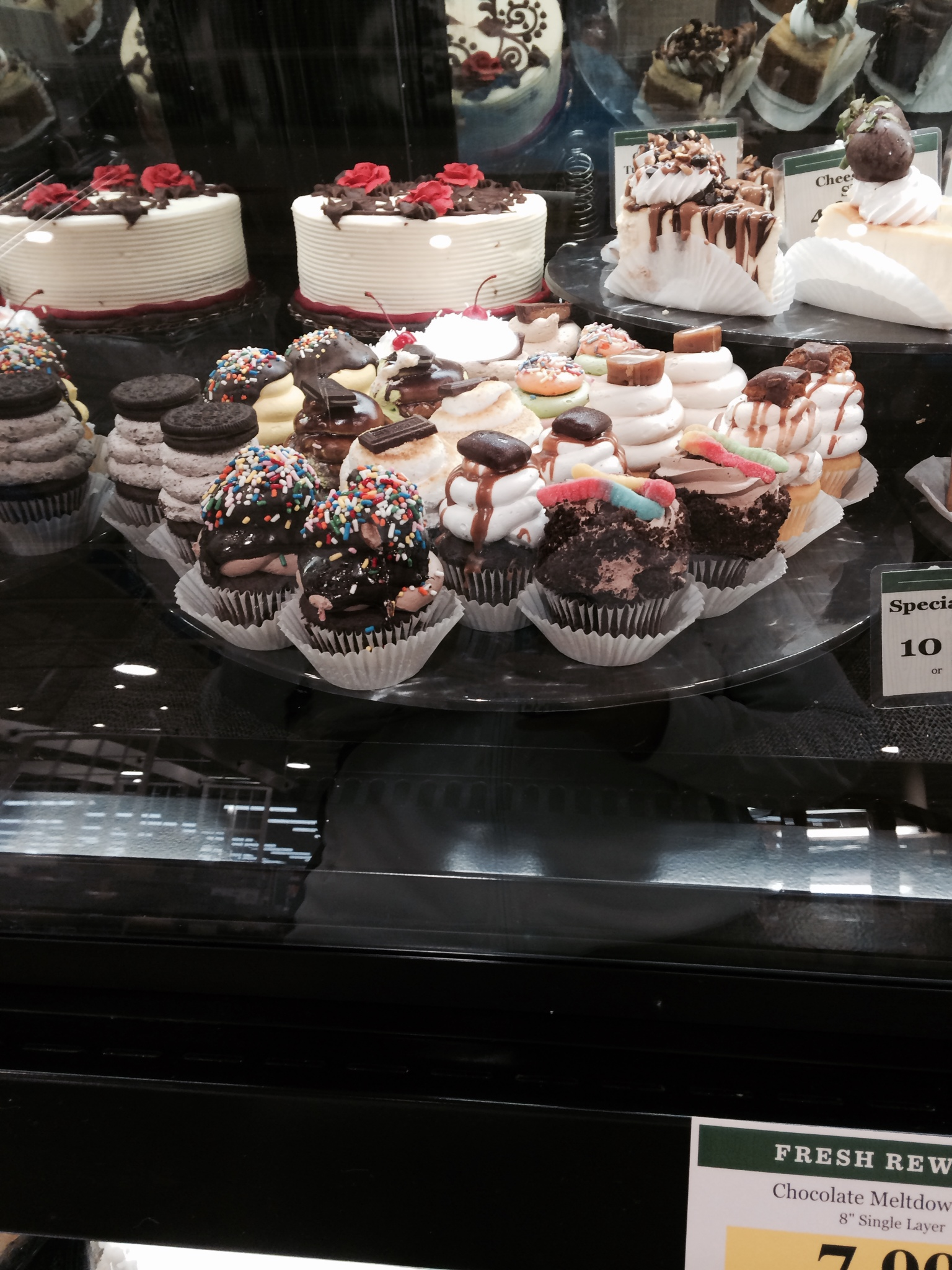 These are cupcakes from when I went to Loew's this evening. I admit, cupcakes are different now compared to when i was in grade school.
