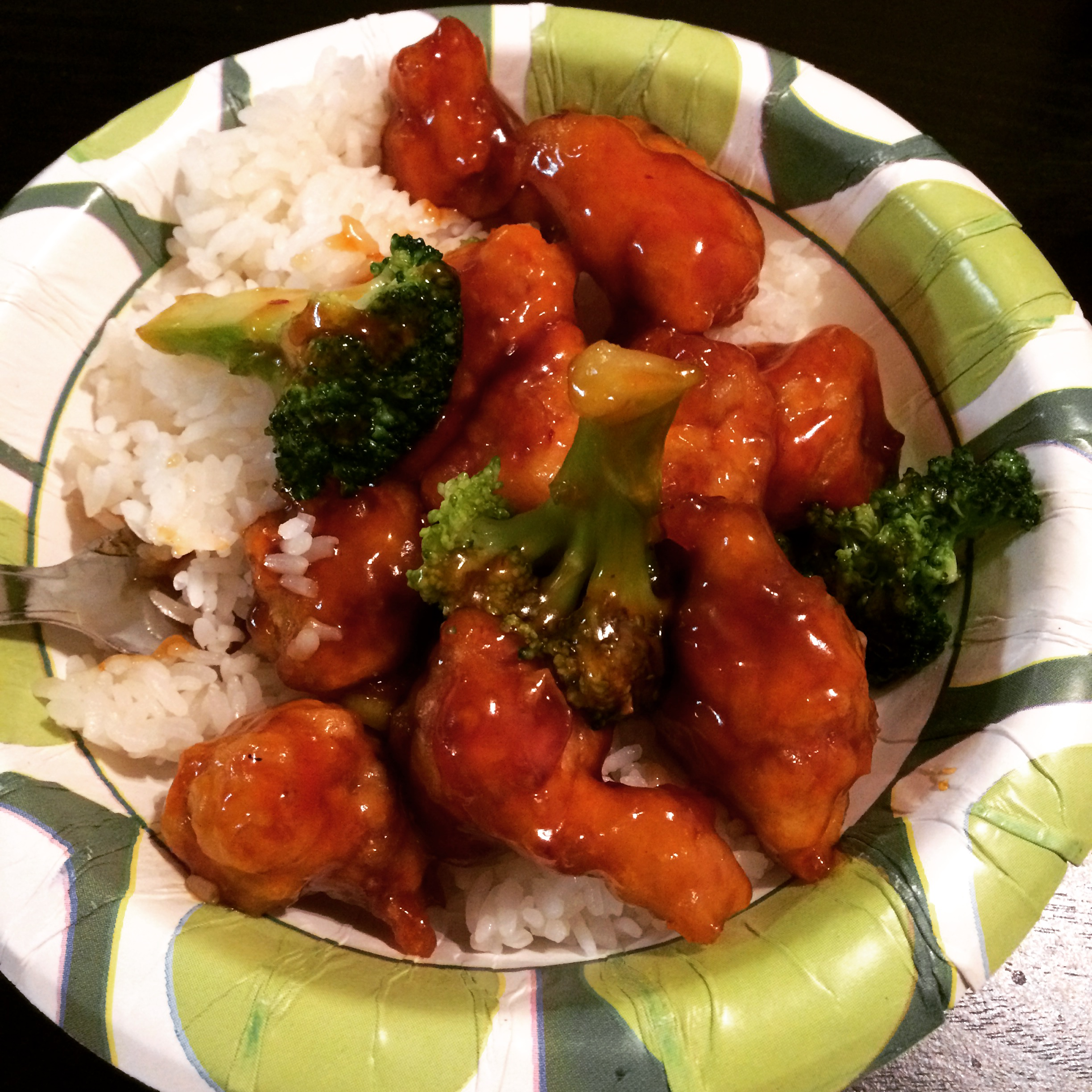 This was the bowl I fixed myself for dinner on Friday night. I will go to China Garden again.