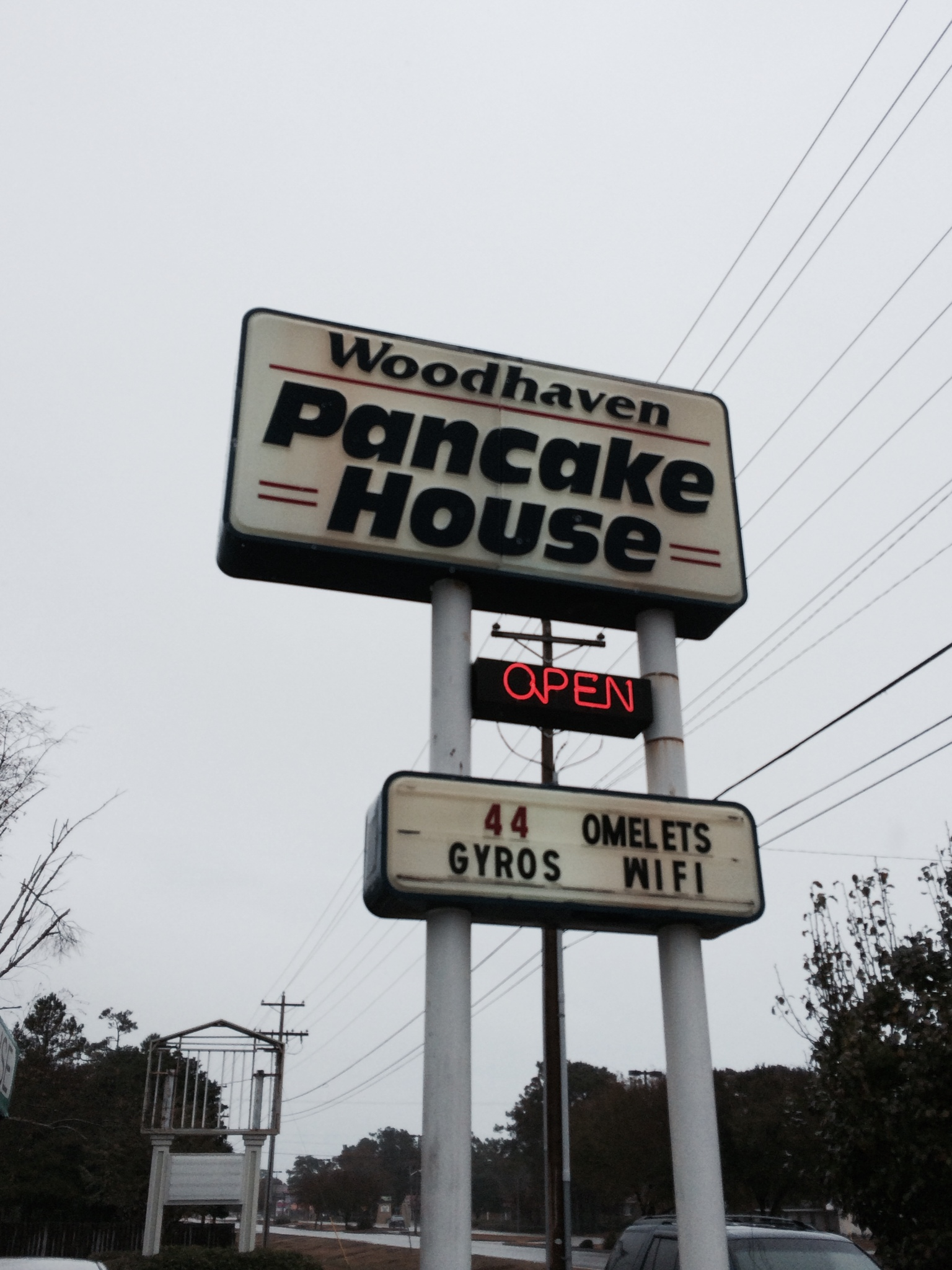 Pancake Houses are all over Myrtle Beach. This is Woodhavens Pancake House.
