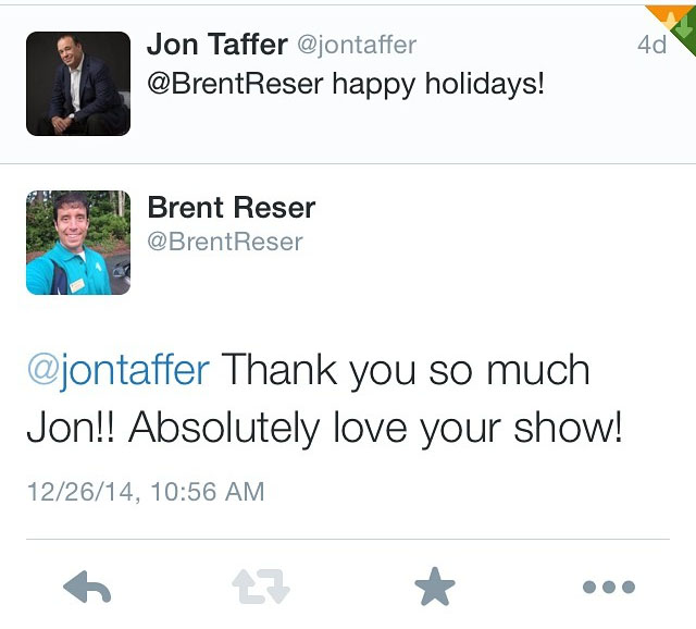 I was so honored that Jon Taffer himself would tweet at me.