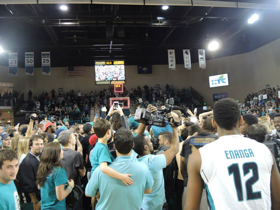 Coastal was one of the first schools  that had the pleasure of storming the court after a punched ticket to the Big Dance.