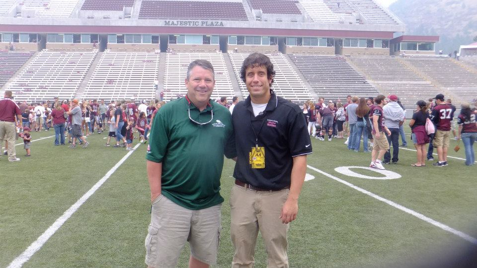 My dad and I on the field after a football game in Missoula a couple years ago.