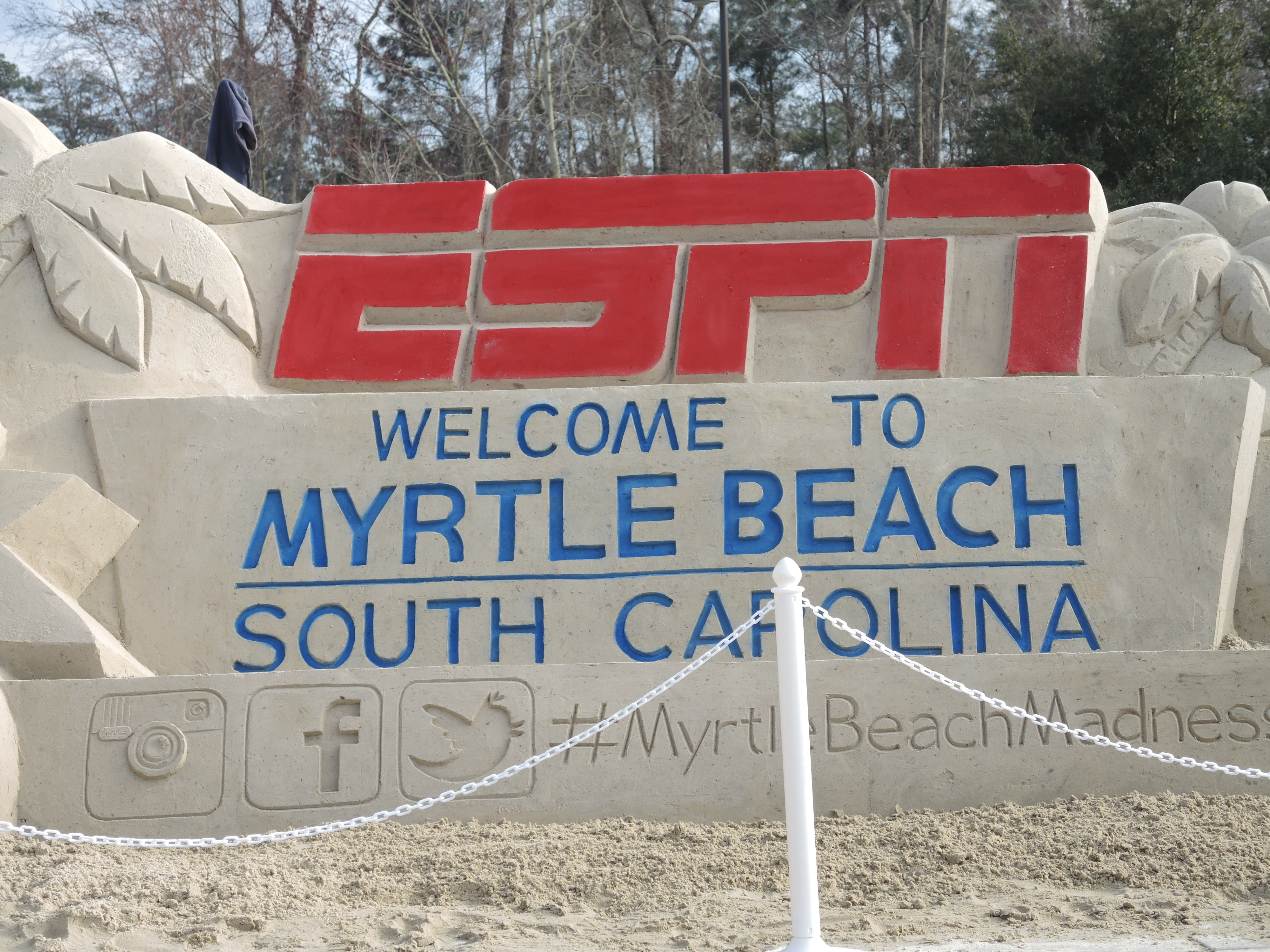 The ESPN/Welcome to Myrtle Beach portion of the structure.