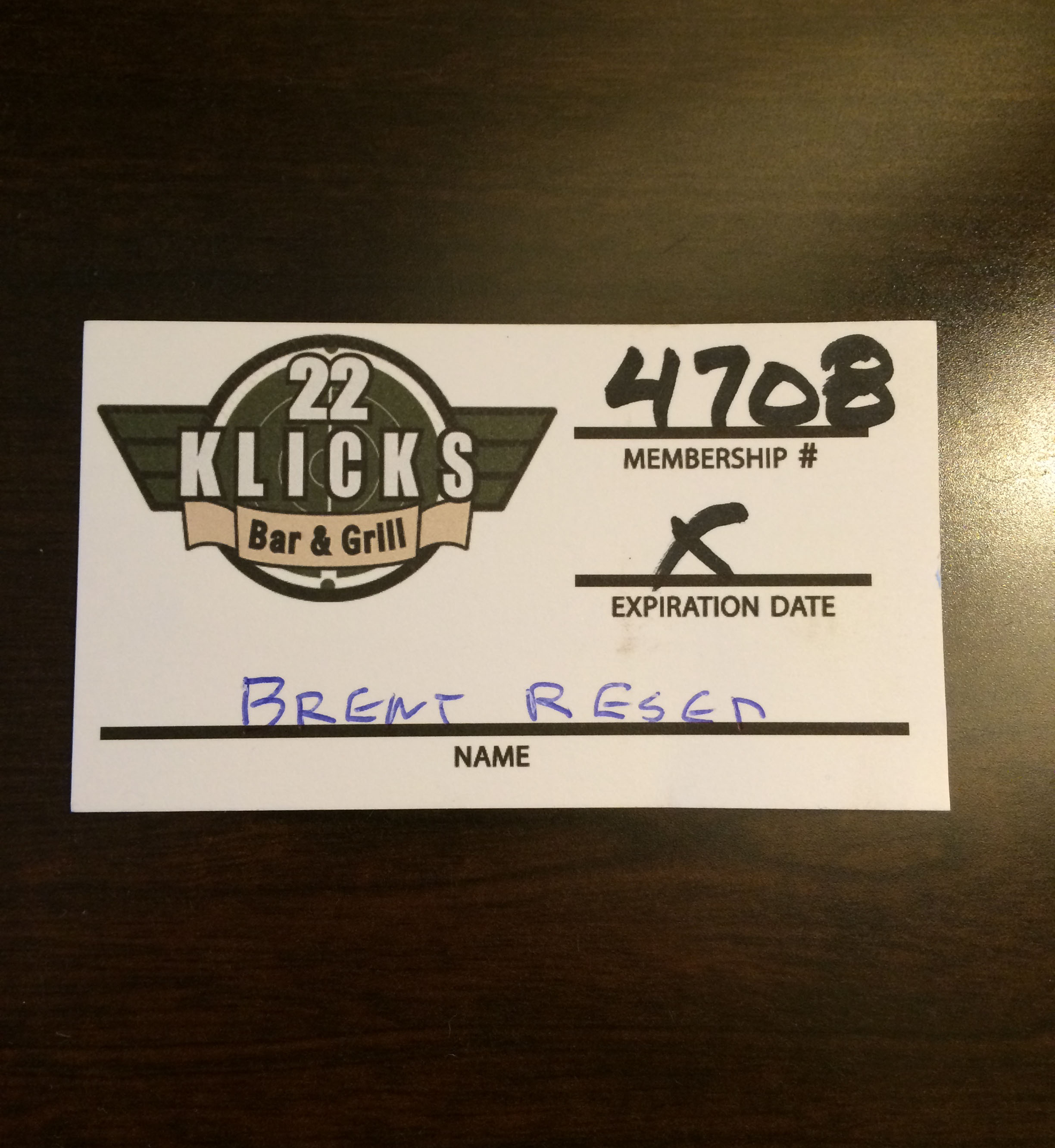 I was given a Klicks 22 card!