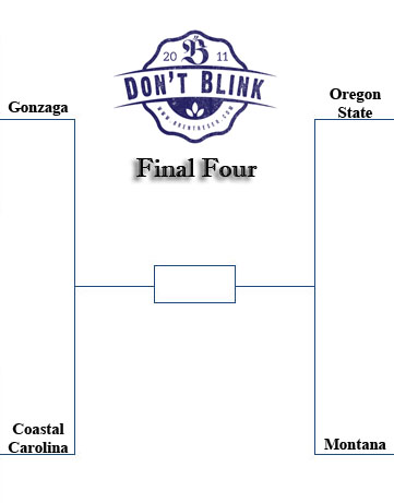This is my 2015 FInal Four bracket.