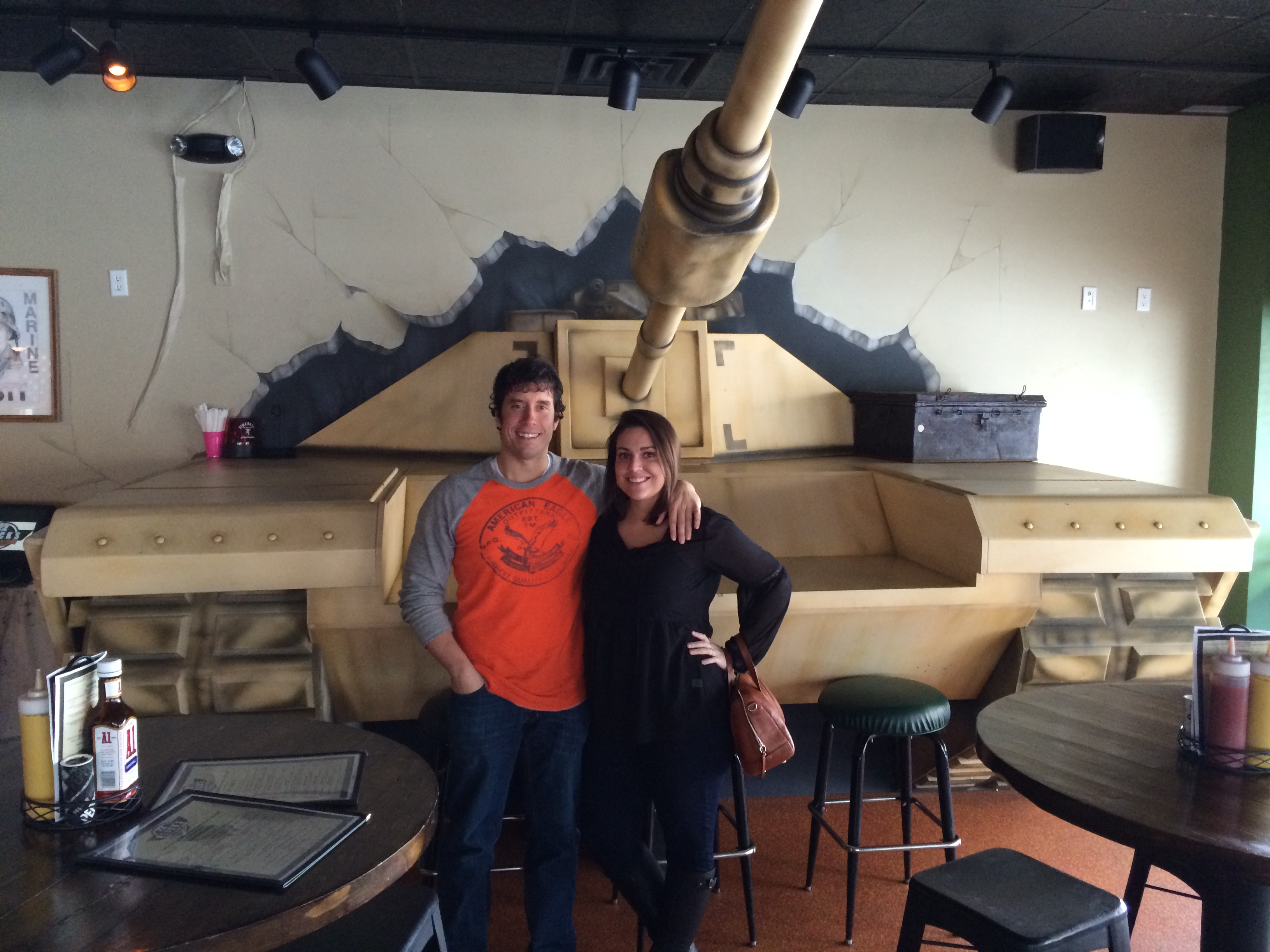 Sidney and I in front of the tank at Klick's 22.